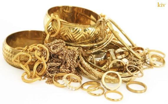 коллекция новогодних подарков - золото