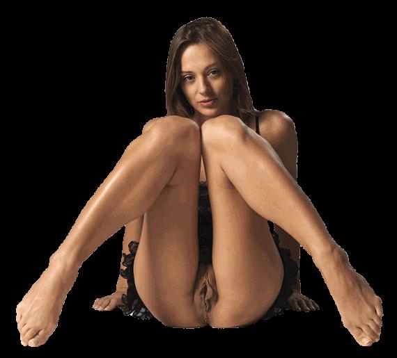 клипарт сидящей голой женщины
