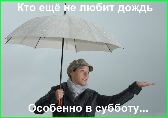 кто не любит дождь в субботу