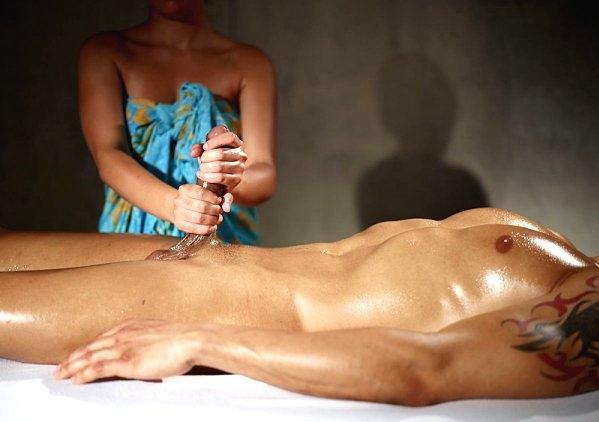Секс онлайн массаж для него члена