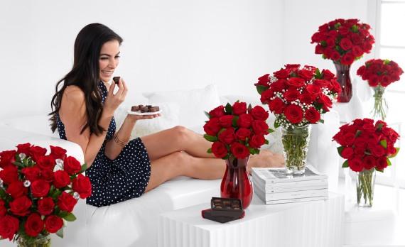 много цветов это приятный шок для девушки