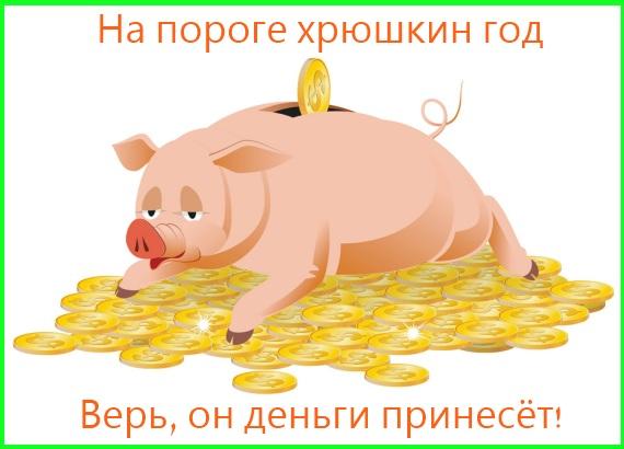 хрюшкин год - деньги принесёт