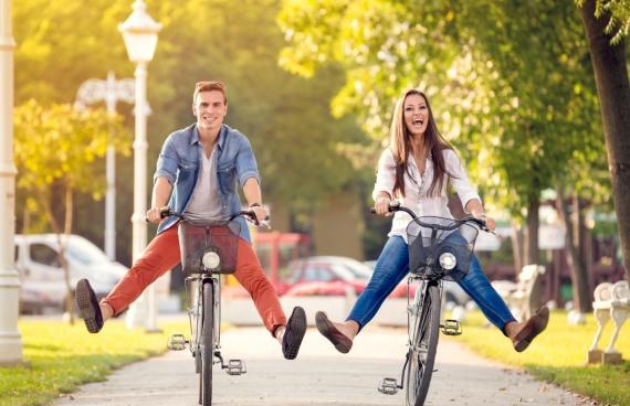 организуй прогулку на велосипедах