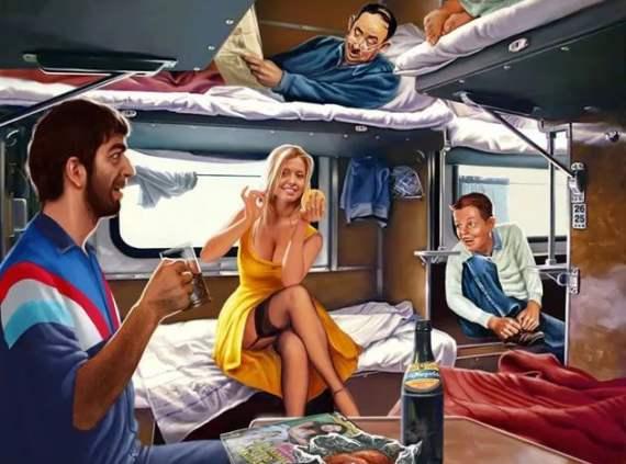 позы для секса в поезде