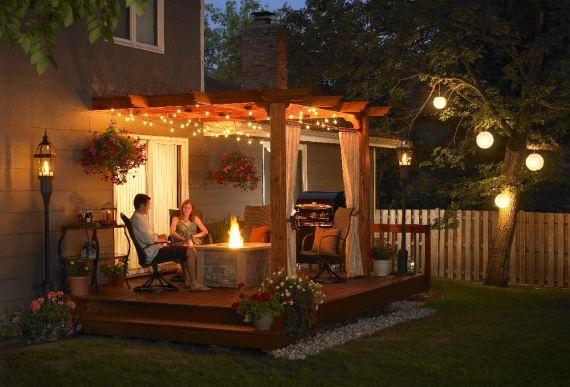 романтический вечер в саду