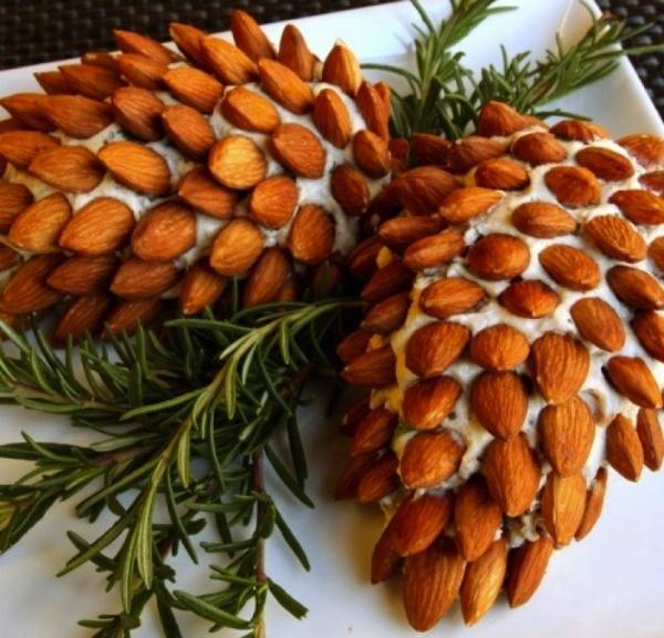 салат - новогодняя шишка