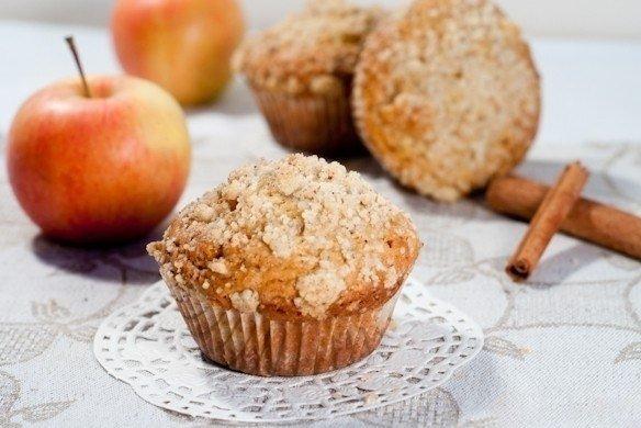 И на десерт яблочный кекс